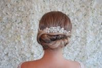 Silver and Freshwater Pearl bridal comb